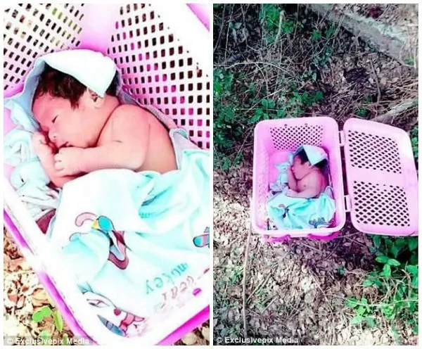 Moses baby! Monks find baby ABANDONED in basket, nurse it back to health (photos)