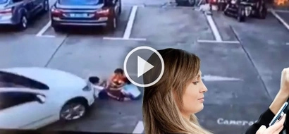 3 kids crushed under Chinese woman's car because she was distracted by her phone