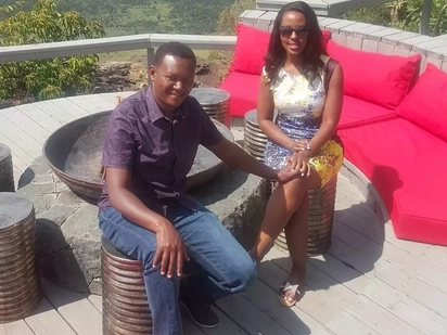Alfred Mutua and wife get passionate during CECAFA finals in Machakos