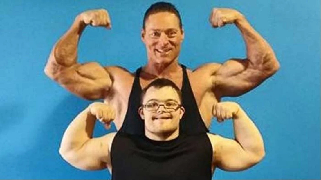 Man with down syndrome competes in a bodybuilding competition!