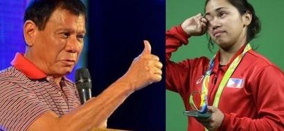 Duterte on Hidilyn Diaz: 'I salute you'