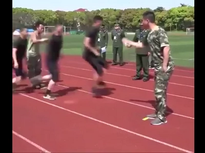 These soldiers do jump rope as part of their morning exercise! Amazing!