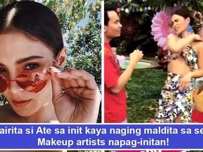 Nainitan, nairita, naging maldita! Lovi Poe loses her cool, berates P.A. and makeup artist for not making her comfortable while doing her makeup