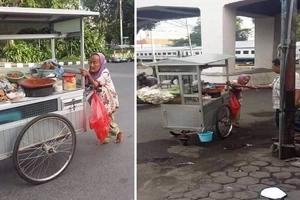 Mahiya ang mga tamad! Heartbreaking photos of Pinay grandma selling street food go viral