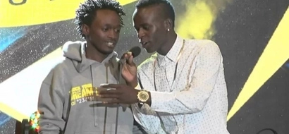 The moment Bahati hit Willy Paul below the belt live on the Trend