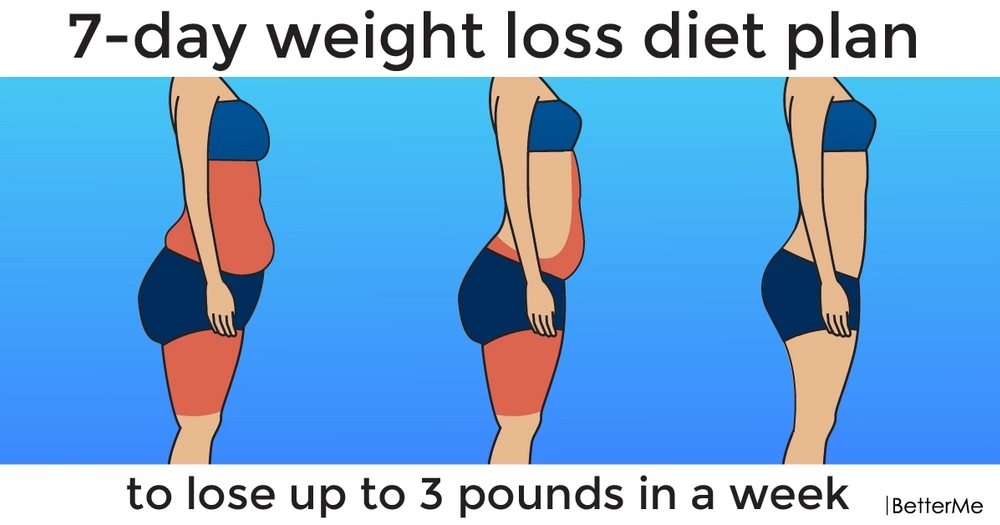 7-day weight loss diet plan to lose up to 3 pounds in a week