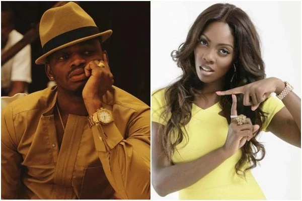 Fans blast Diamond Platnumz over new song he released with Tiwa Savage (photos)