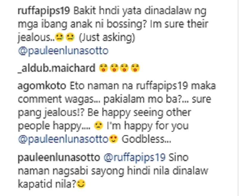 """Pauleen Luna reacts on the """"Jealous"""" issue of Talitha's siblings"""