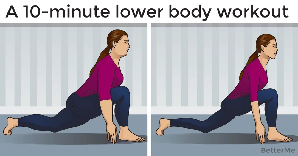 A 10-minute lower body workout
