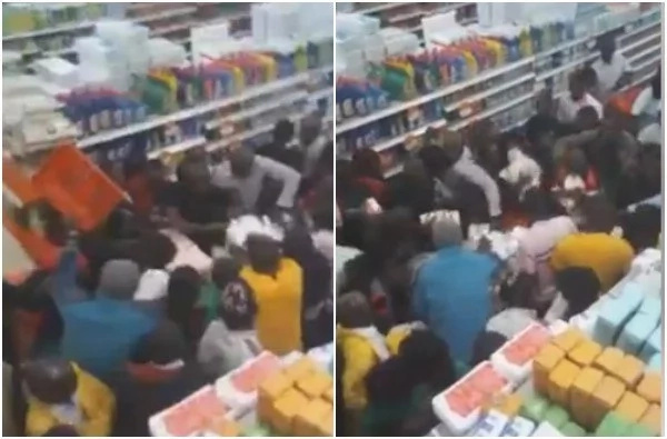 Look at how Kenyans are now fighting for Unga in supermarkets (video)