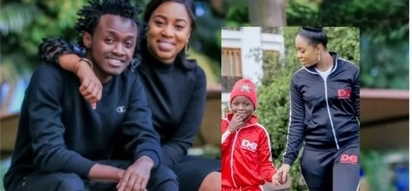 8 extremely lovely photos that prove gospel singer Bahati's fiancee is a good mum to his kids