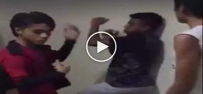 Bugbog sarado si kuya! Violent bullies brutally beat up defenseless teenager in dormitory