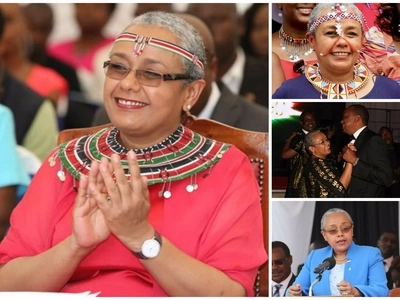 First Lady Margaret Kenyatta dances vigorously with school girls (video)