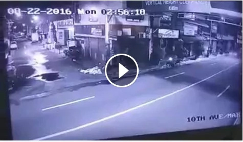 High-speed car crashes to a motorcycle in Caloocan
