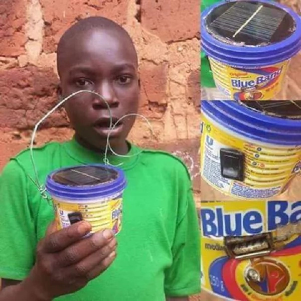 Meet Tonny, the street kid who is lighting up the streets using Blueband tins