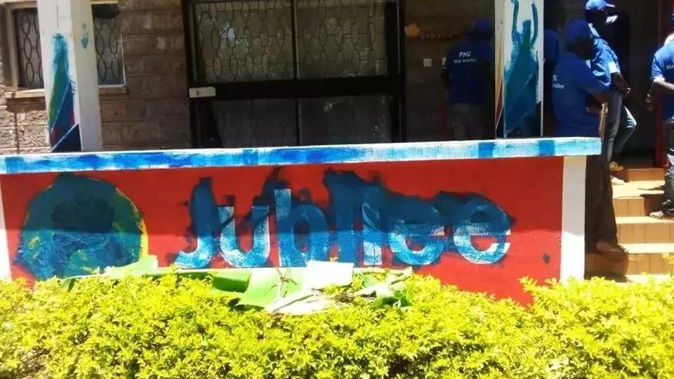 Picha za jengo Munya na Uhuru wanazozania