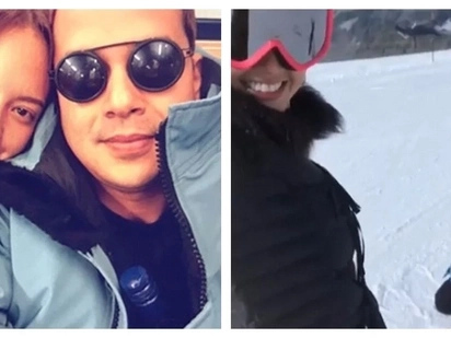 Super bongga ng bonding nila! Ellen Adarna teaches John Lloyd Cruz how to ski during their vacation in Switzerland
