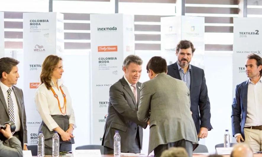 Juan Manuel Santos presente en Colombiamoda