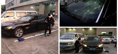 PHOTOS, VIDEO: See Enraged Wife Destroying Husband's Luxury BMW For Affair