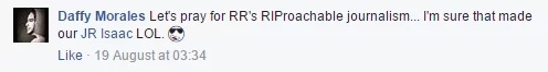 Isaac is cool with Robles' fake death announcement
