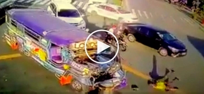 Reckless jeepney driver brutally hits traffic enforcer at intersection in Makati City