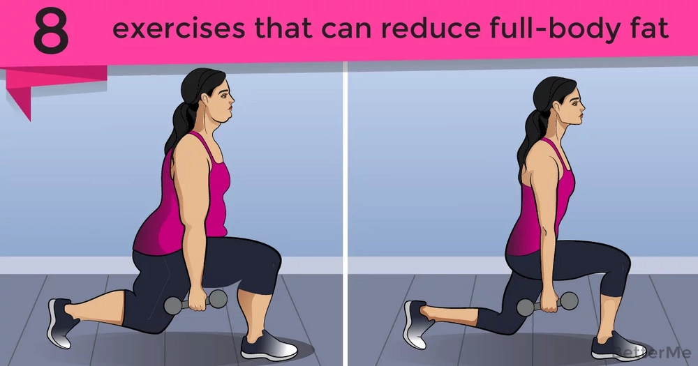 8 exercises that can help you reduce full-body fat