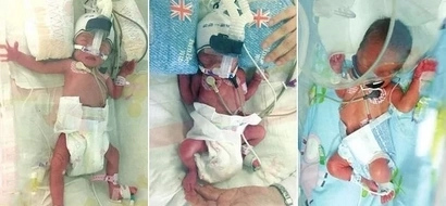 Woman who was barren gives birth TWICE in ONE WEEK, and they are triplets (photos)