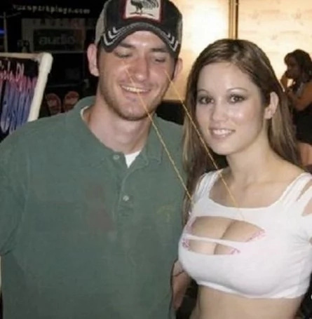 7 photos of guys staring at women's assets