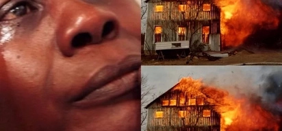 Kenyan woman risks her life to save baby from burning house