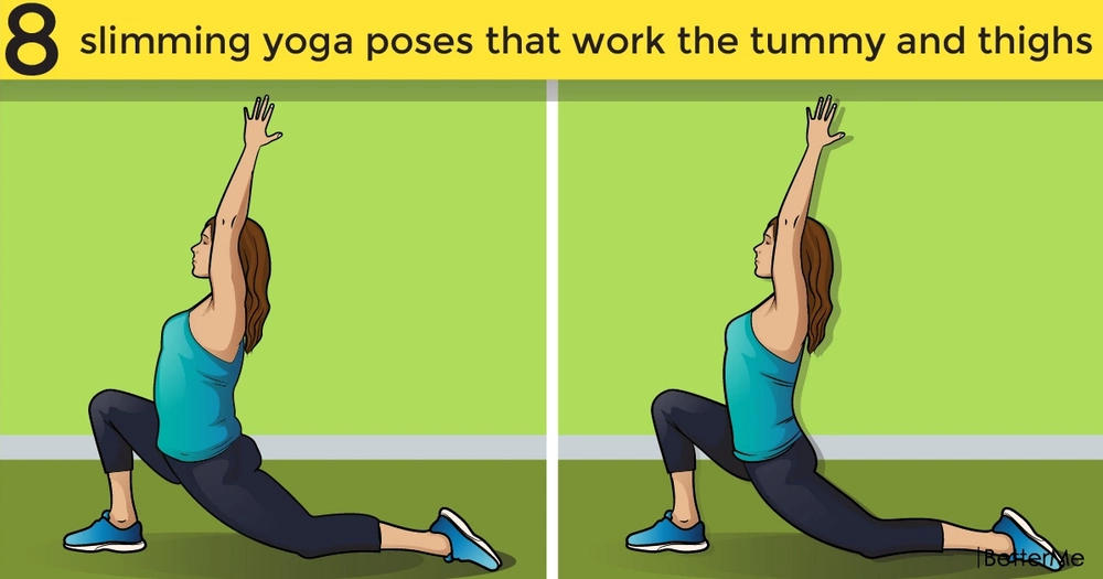 8 slimming yoga poses that work the tummy and thighs