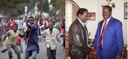 Kenya will not burn because of you- Kenyans on Twitter tell Raila and Kalonzo