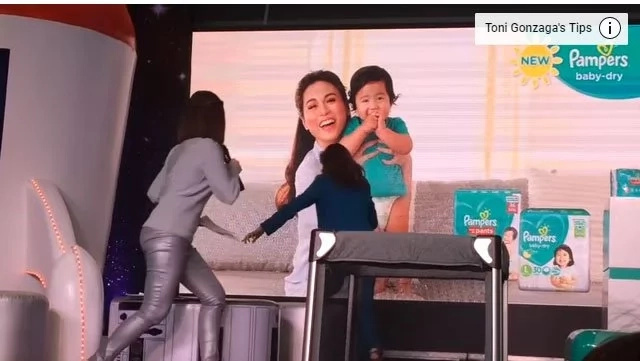 Baby Seve falls off from the stage, Daddy Paul comes to the rescue