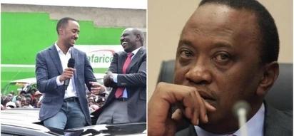 Mwanawe Uhuru Kenyatta ajituma mashinani kumwombea kura babake (video)