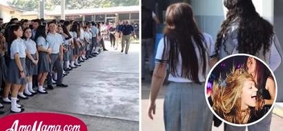 Ella era la chica adinerada de la escuela y por eso obligaba a hacer algo terrible a sus demás compañeras