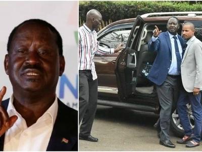 What was Raila Odinga whispering to rubblerouser Babu Owino in this photo?