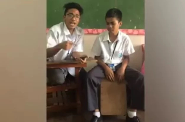 Student duo sings covers of throwback hits in trending video