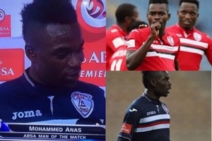 Sema fisi! Footballer accidentally thanks wife and GIRLFRIEND during live interview