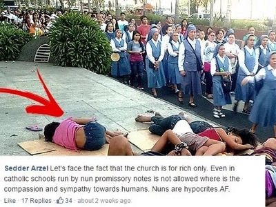 Viral Photo of Nuns Passing By the Street Children Angers Netizens