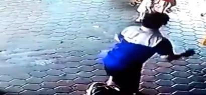 Heroico padre saltó frente a carro fuera de control para salvar a sus hijos