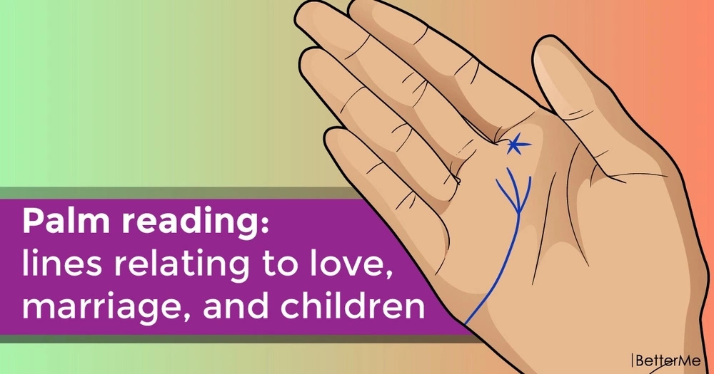 Palm reading: lines relating to love, marriage, and children