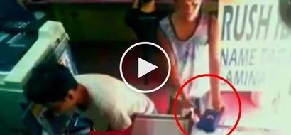 Salisi Gang sa Makati City! Sneaky Pinoy steals purse from distracted customer in computer shop