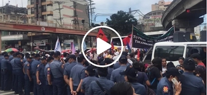 Isang araw ng pagpoprotesta! Demonstrations for, against Marcos and Duterte fill the streets of Mendiola