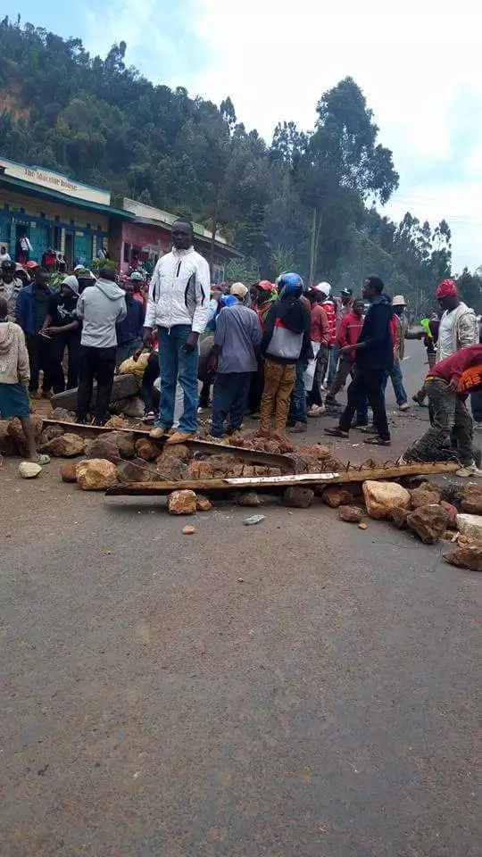 Meru residents demonstrate to protest ban of Miraa in Somalia