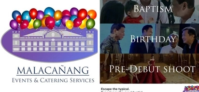 Pampa good vibes po! Parody social media page 'Malacañang Events & Catering Services' offers events right inside revered Malacañang!
