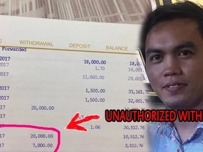 Pano nangyari 'to? East West depositor slams bank for unauthorized P27k withdrawal from account despite the fact his ATM is with him!