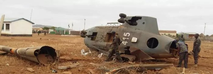 Officers injured after KDF helicopter crashes in Wajir