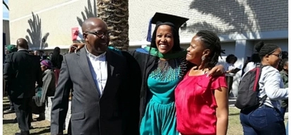 Perfect role models: Bsc Chemistry and Geology graduate thanks her parents