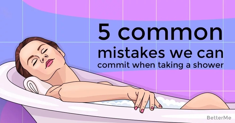 5 common mistakes we can commit when taking a shower