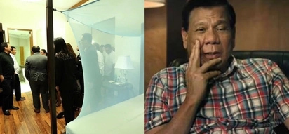 "Humble Tatay Digong. President Rodrigo Duterte uses Josh Aquino's old ""kulambo"" in his Malacañang room"