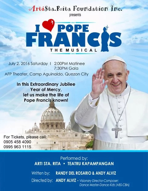 Pope Francis musical comes back on stage